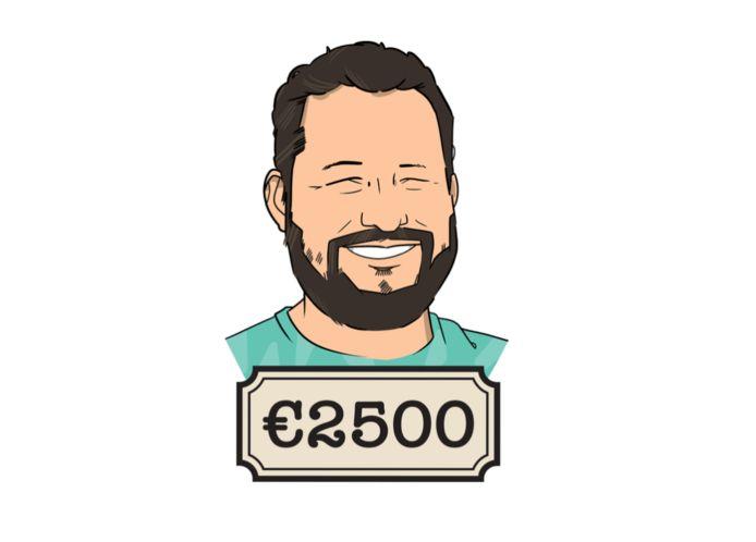 Joost (44) is ambulancechauffeur en verdient 2500 euro netto per maand.