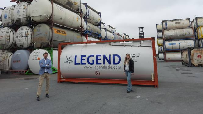 Dordtenaren Ruben en Chantal gaan met Aziatische tankcontainers Europa veroveren