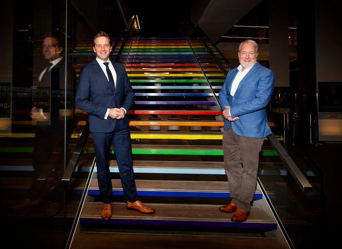 Demissionair coronaminister Hugo de Jonge en RIVM-directeur Jaap van Dissel.