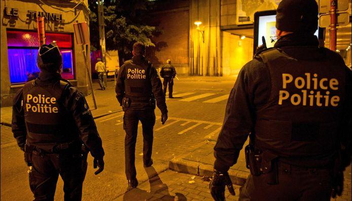Action de sécurisation par la police de la Zone Bruxelles-Nord (archives, 2012)