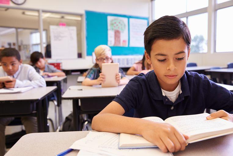 De kloof tussen kansarme en kansrijke leerlingen is tussen 2003 en 2015 een beetje verkleind. Beeld Thinkstock