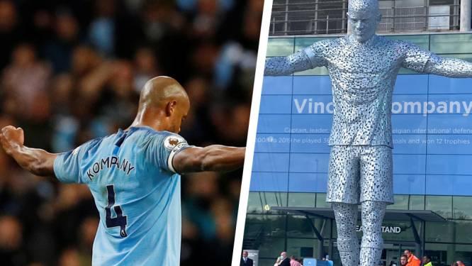 Voor eeuwig voor het Etihad Stadium: Manchester City onthult standbeeld van Vincent Kompany