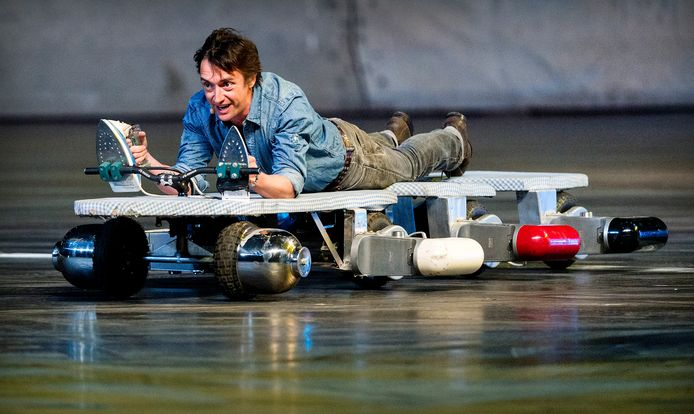 Richard Hammond tijdens de repetitie van Top Gear Live in de Ziggo Dome.