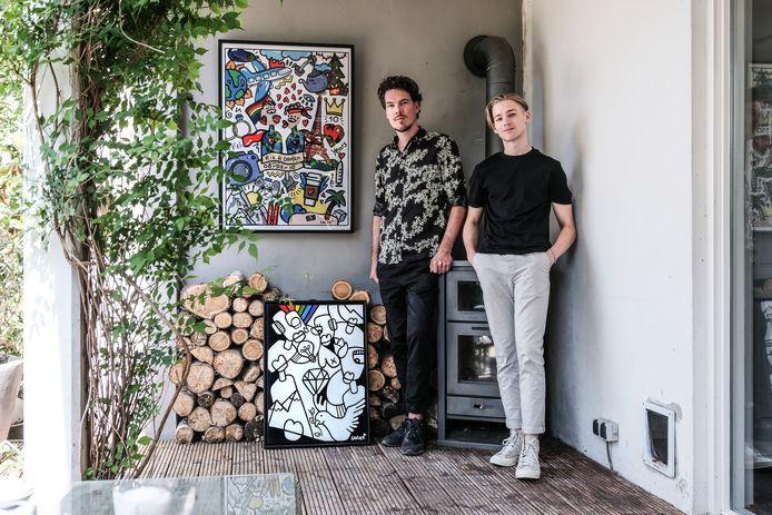 Kunstwerk Rik en Damien door Jesse Safier (rechts).