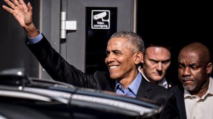 Obama grapt over Trump tijdens peperdure speech in Amsterdam