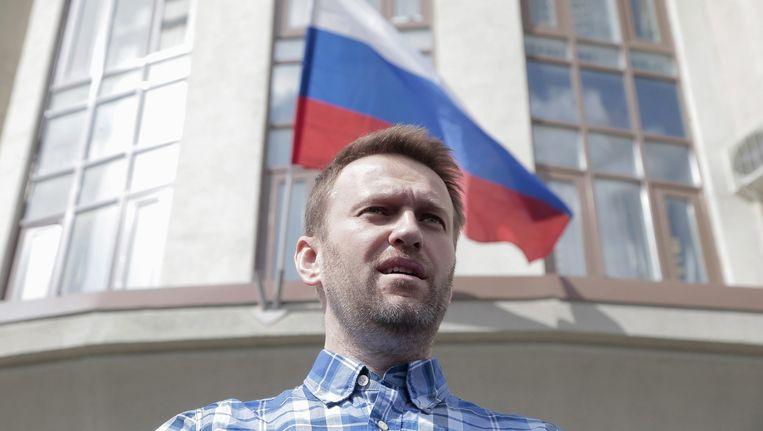 Poetin-criticus Aleksej Navalny. Beeld epa