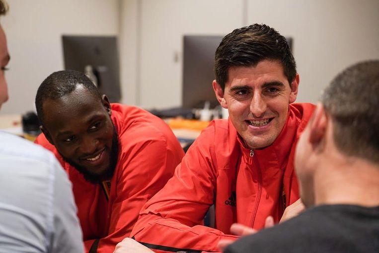Romelu Lukaku en Thibaut Courtois.