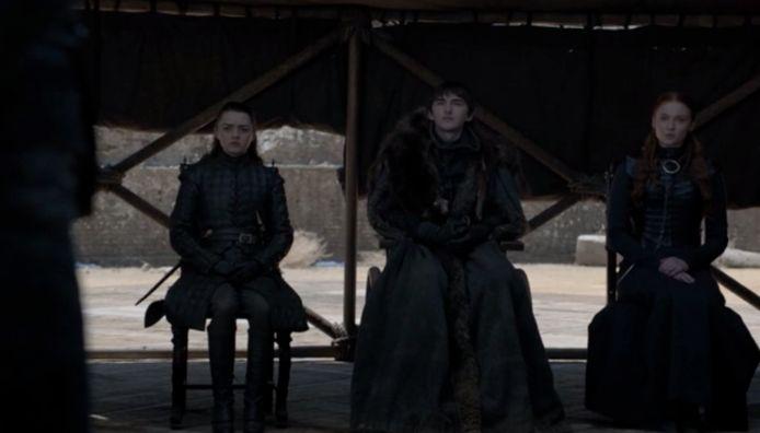 De rest van de Starks is er ook bij.