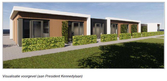Zo moeten de woningen voor de spoedzoekers in Roosendaal er uit komen te zien.