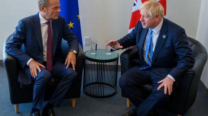Geen doorbraak in onderhandelingen brexit na ontmoeting Tusk en Johnson in New York