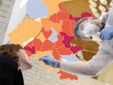 KAART | Besmettingen dalen in de hele regio, 'coronahaard Urk' haalt opgelucht adem