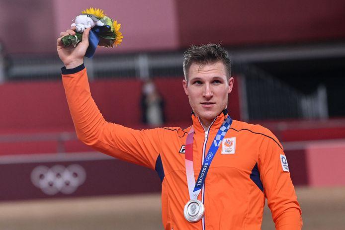 Zilver: Jeffrey Hoogland (baanwielrennen, sprint, mannen)