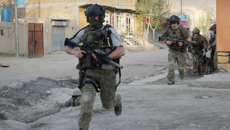 NAVO-soldaten in Afghanistan, eerder deze maand. Beeld ap