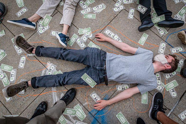 Actievoerders klagen de uitspraak van de rechtbank aan. Beeld LightRocket via Getty Images