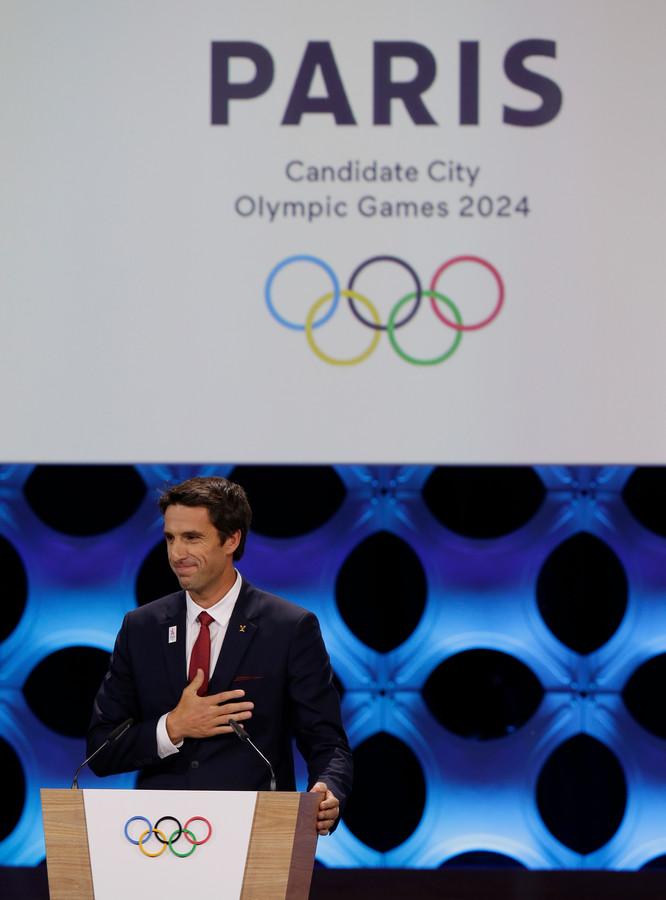 Oud-atleet Tony Estanguet van het Franse Olympisch Comité.