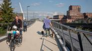 Nieuwe fiets- en voetgangersbrug Wetteren na zeven maanden dicht voor werken