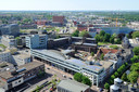 Het stadhuis van Amersfoort, gezien vanaf de Onze Lieve Vrouwetoren.