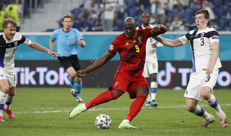 Romelu Lukaku zette de 0-2 op het scorebord. Beeld EPA