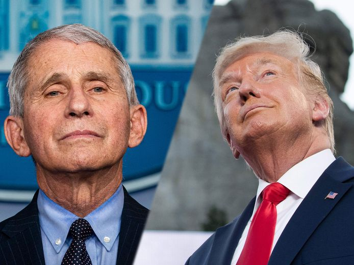 Anthony Fauci et Donald Trump.