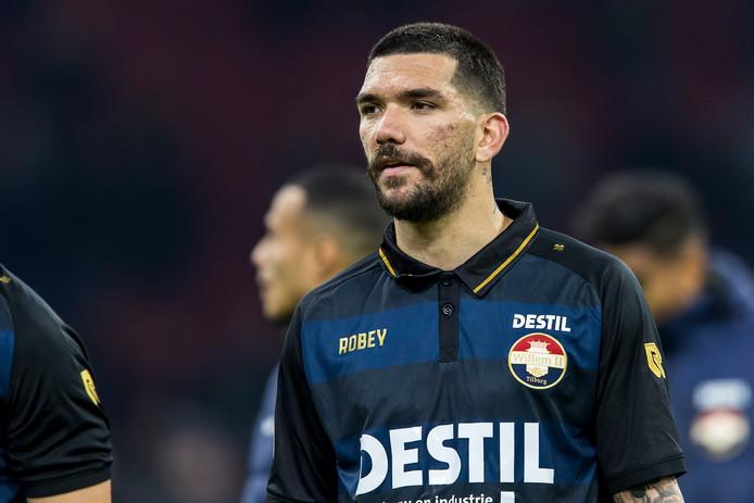 Kolovos in het shirt van Willem II.