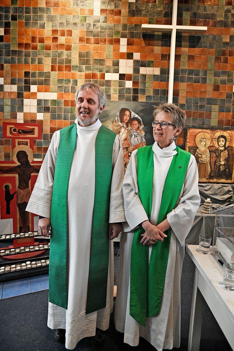 Edward Kooiman en Hanneke Ruitenbeek  Beeld Foto Guus Dubbelman / de Volkskrant
