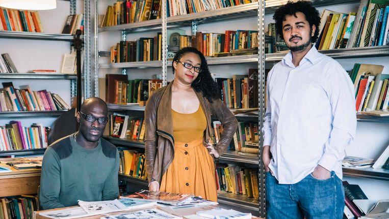 Mitchell Esajas (28), Jessica de Abreu (27), Miguel Heilbron (34). Beeld Marcel Wogram