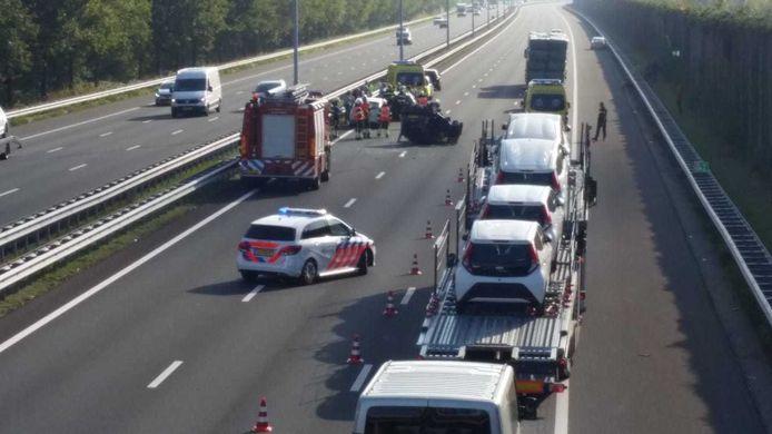 Ongeluk op A2 bij Boxtel