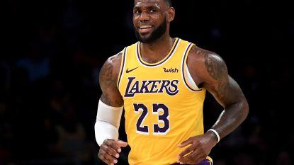 LeBron James viert eerste zege in shirt LA Lakers