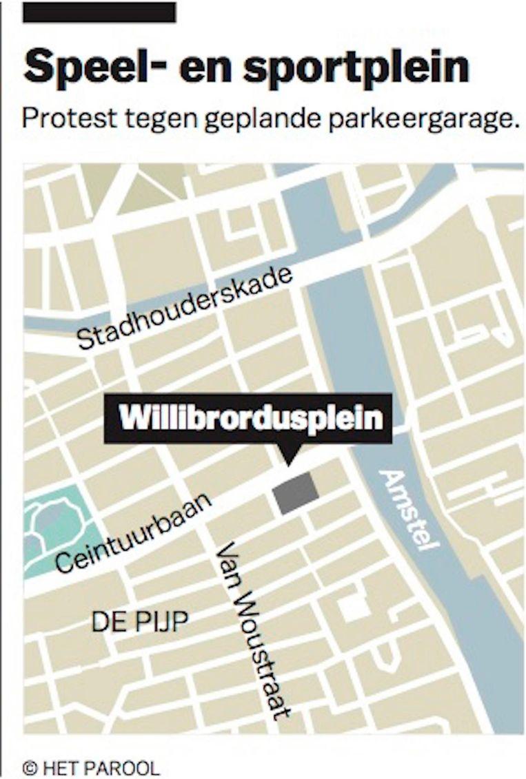 Bij de herinrichting van de Van Woustraat verdwijnen 125 parkeerplaatsen Beeld Jorris Verboon