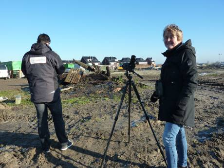 Dwaalgast trekt vogelspotters naar bouwterrein Bodegraven