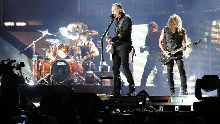 De Amerikaanse band Metallica sluit Pinkpop 2014 af. Beeld epa