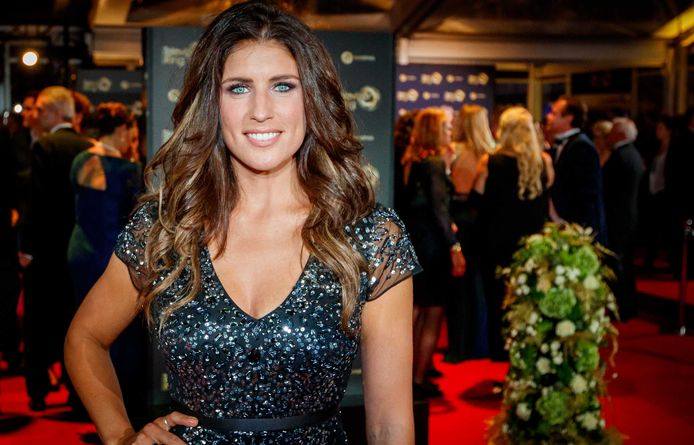 Marieke Elsinga op de rode loper van het 52ste Gouden Televizier-Ring Gala.