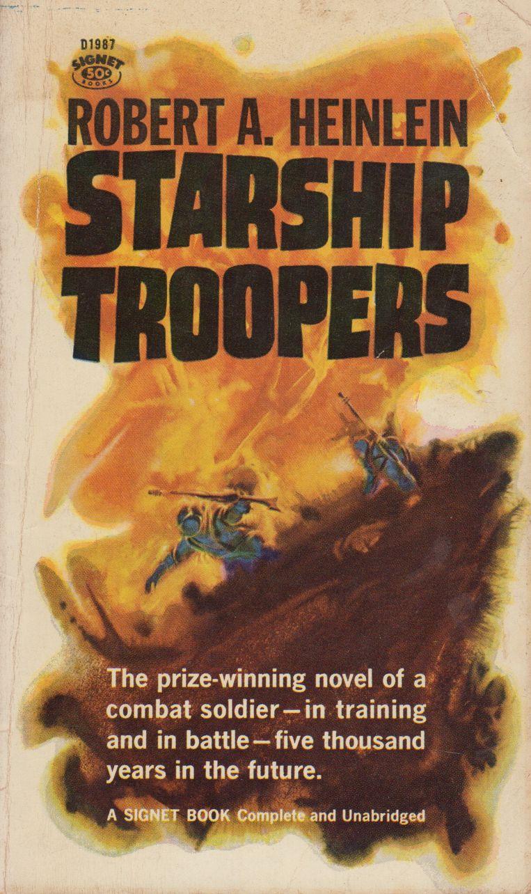 Robert Heinleins roman 'Starship Troopers', uit 1959. Beeld RV