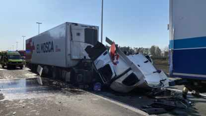 E19 versperd in Brecht door zwaar verkeersongeval: cabine afgebroken van trekker
