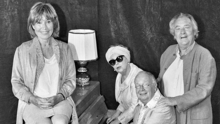 Vlnr: Annemarie Oster, Marlies Hamelynck, Rob van de Meeberg en Jules Croiset Beeld Randy Fokke