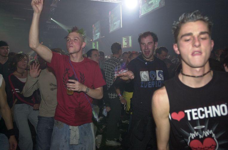 I Love Techno, hoogmis van de elektronische muziek, in 2003 in Flanders Expo. Beeld Frederiek Vande Velde