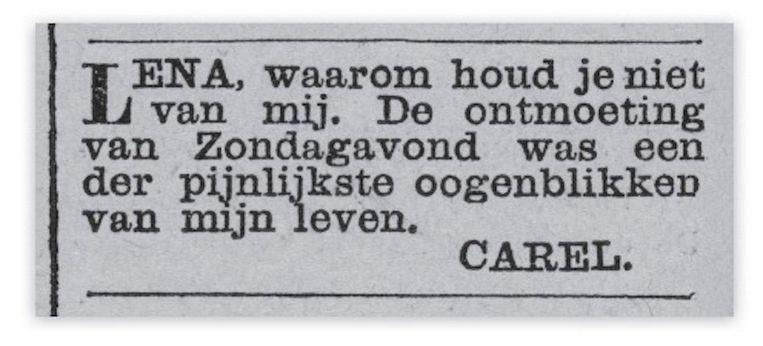 Nieuws van den Dag, 1887 Beeld Instagram