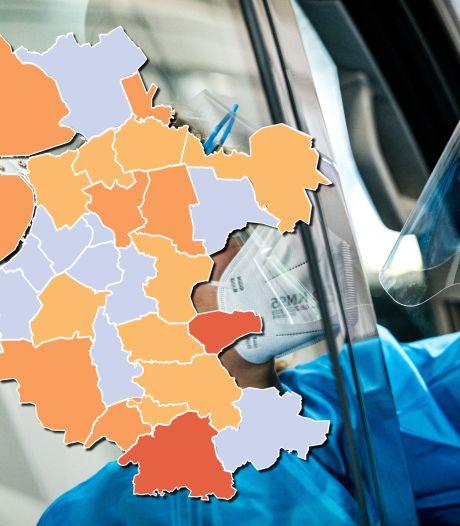 KAART | Dalende trend zet door in Oost-Nederland, zes gemeenten op nul nieuwe coronabesmettingen