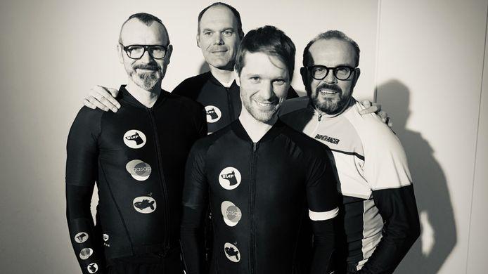 Bart Vanden Driessche, Jef Oelbrandt, Bram Bundervoet en Bart Van Avermaet vormen samen de BLAFtrappers.