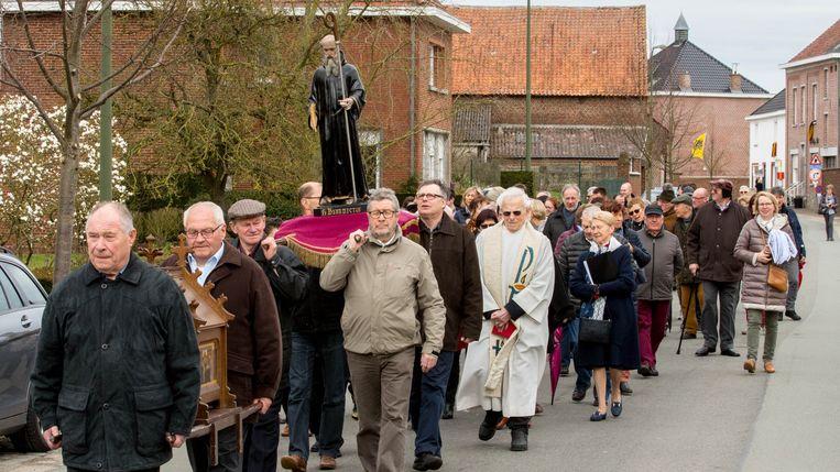 Archiefbeeld van een vorige editie van de Sint-Bernardus processie.