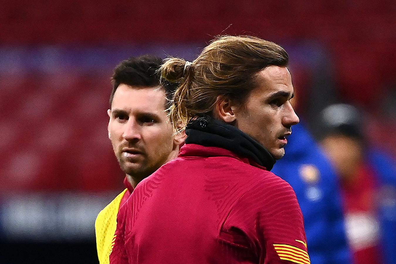 Griezmann (r) en Messi.