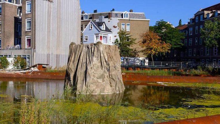 'Nail House' van Leonard van Munster op de Schinkelkade Beeld René Gerritsen