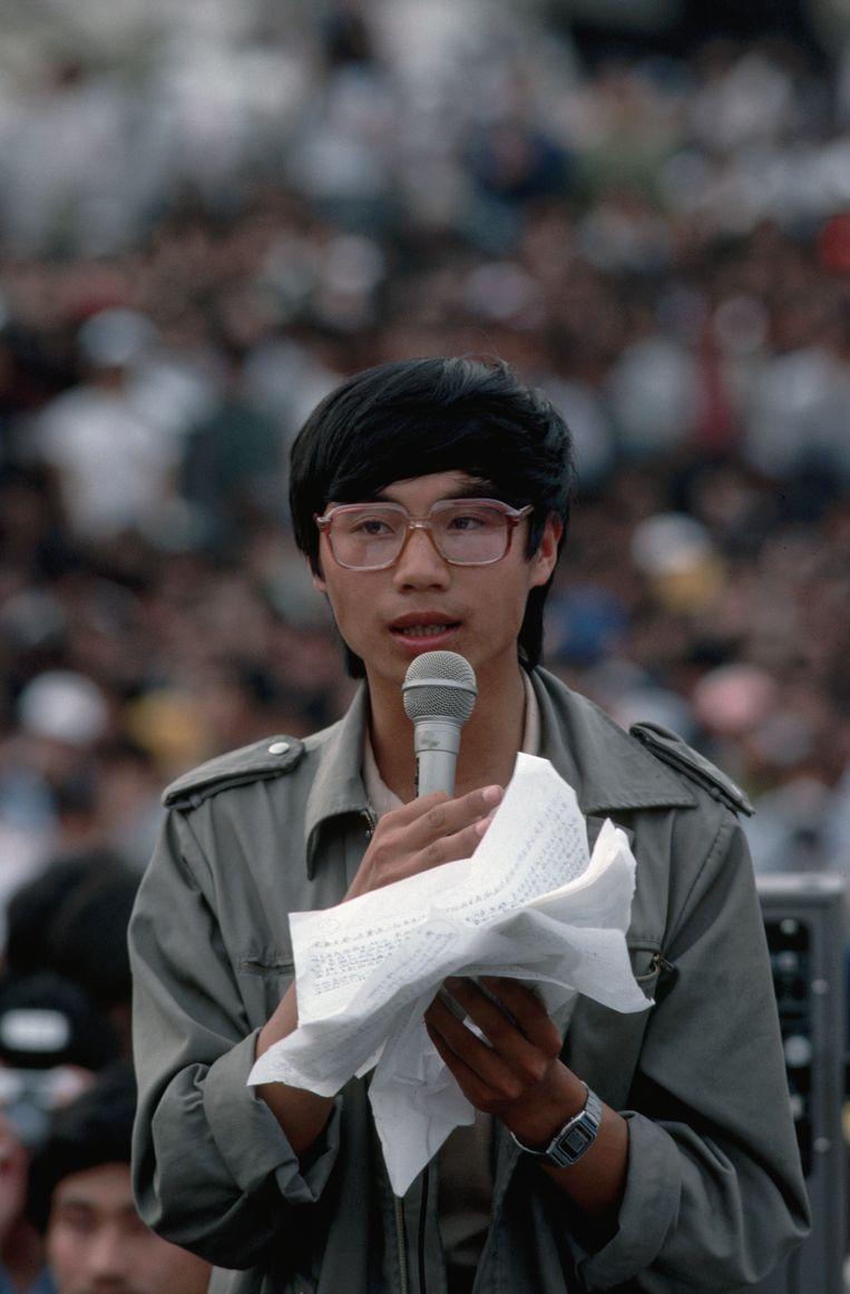 Wang Dan was studentenleider tijdens de protesten in 1989. Beeld Corbis/VCG via Getty Images