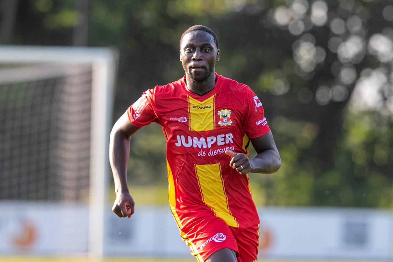 Jacob Mulenga geeft nog altijd alles als hij op het veld staat. Tegen Vitesse was de spits van GA Eagles dicht bij een doelpunt.