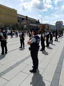 Rassemblement policier à Seraing.