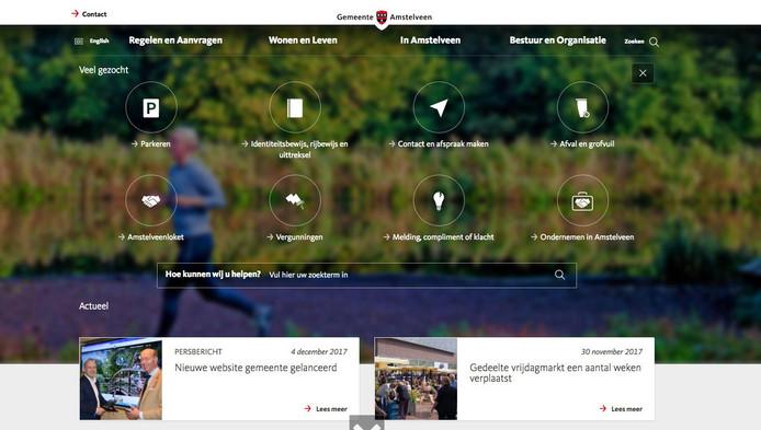 Maandag lanceerde de gemeente Amstelveen een nieuwe website.