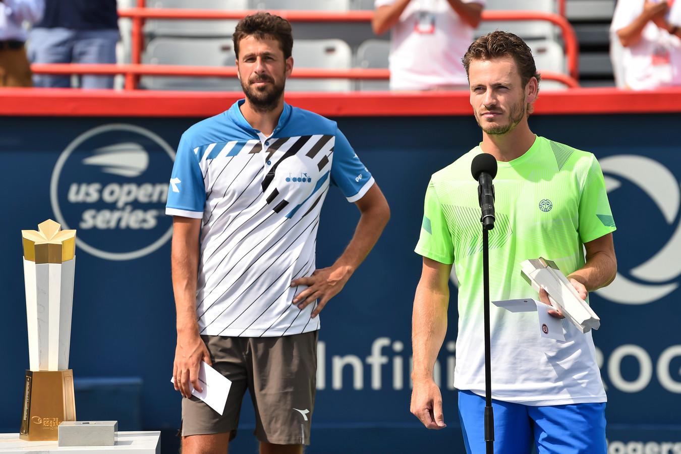 Koolhof en Haase op een toernooi in Canada.