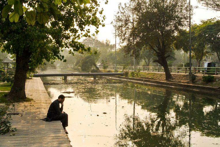 Lahore Canal, een irrigatiekanaal waar Hamid vroeger bij speelde. Beeld Haroon Ali