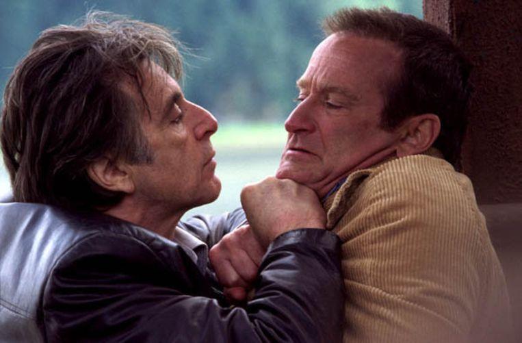 Al Pacino (links) en Robin Williams in Insomnia van Christopher Nolan. Beeld Filmstill. Dir: Christopher Nolan