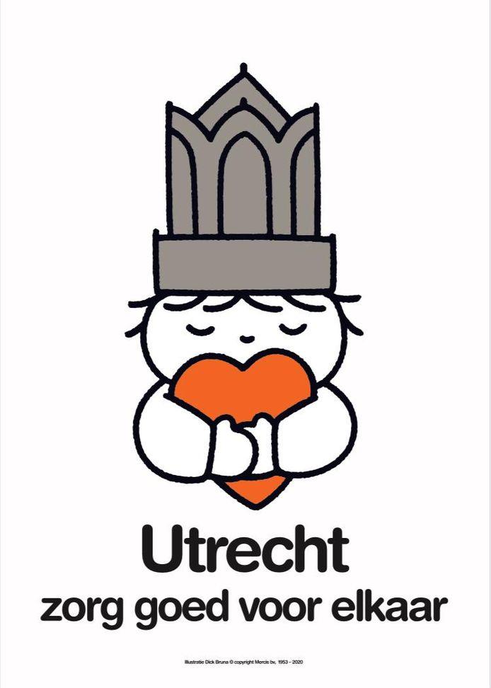 De nieuwe poster met de tekst Utrecht zorg goed voor elkaar.